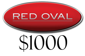 Red Oval $1000