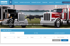 Used Truck Homepage Screenshot